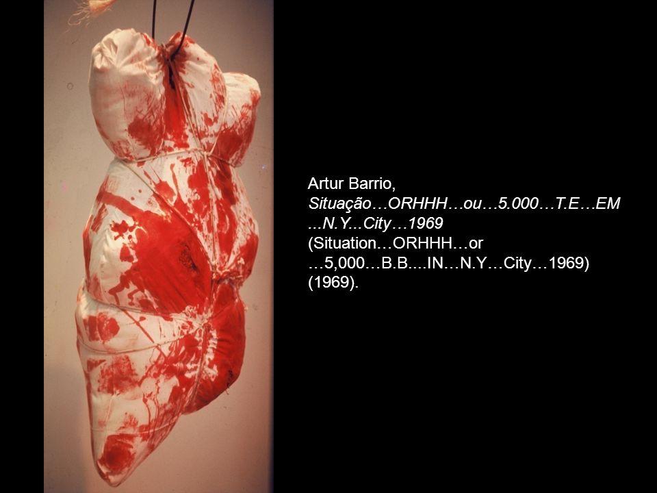 Artur Barrio, Situação…ORHHH…ou…5.000…T.E…EM...N.Y...City…1969 (Situation…ORHHH…or …5,000…B.B....IN…N.Y…City…1969) (1969).
