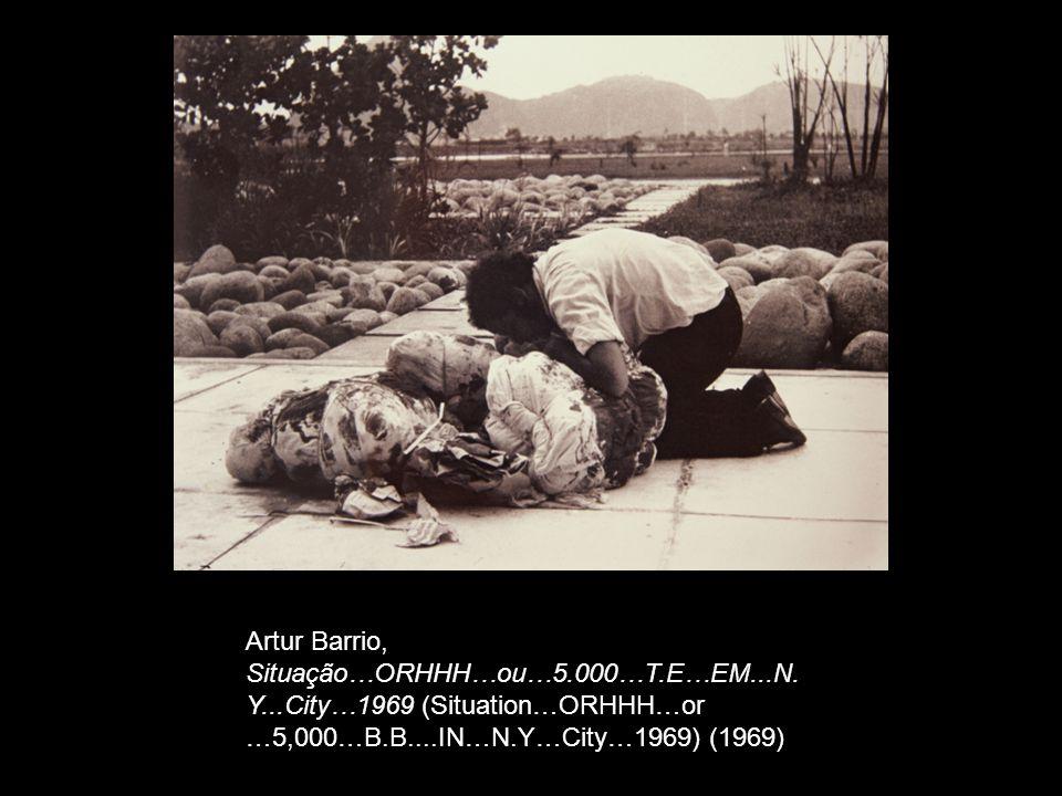 Artur Barrio, Situação…ORHHH…ou…5.000…T.E…EM...N. Y...City…1969 (Situation…ORHHH…or …5,000…B.B....IN…N.Y…City…1969) (1969)