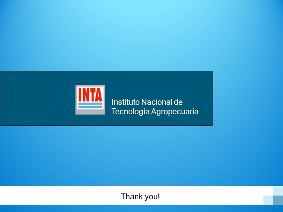 Instituto Nacional de Tecnología Agropecuaria Thank you!