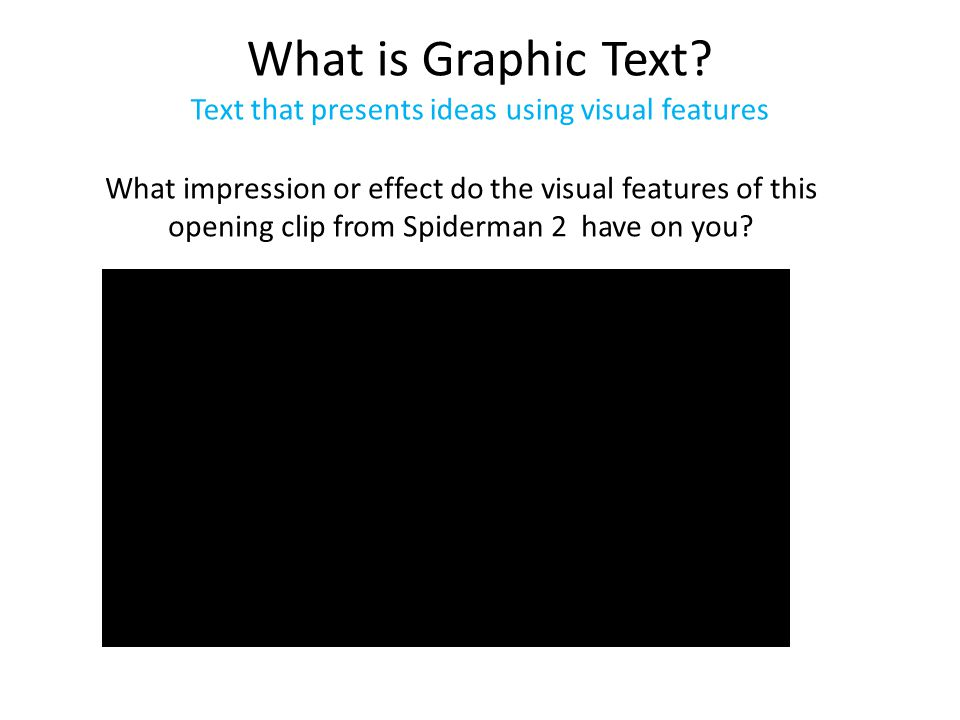What is Graphic Text.