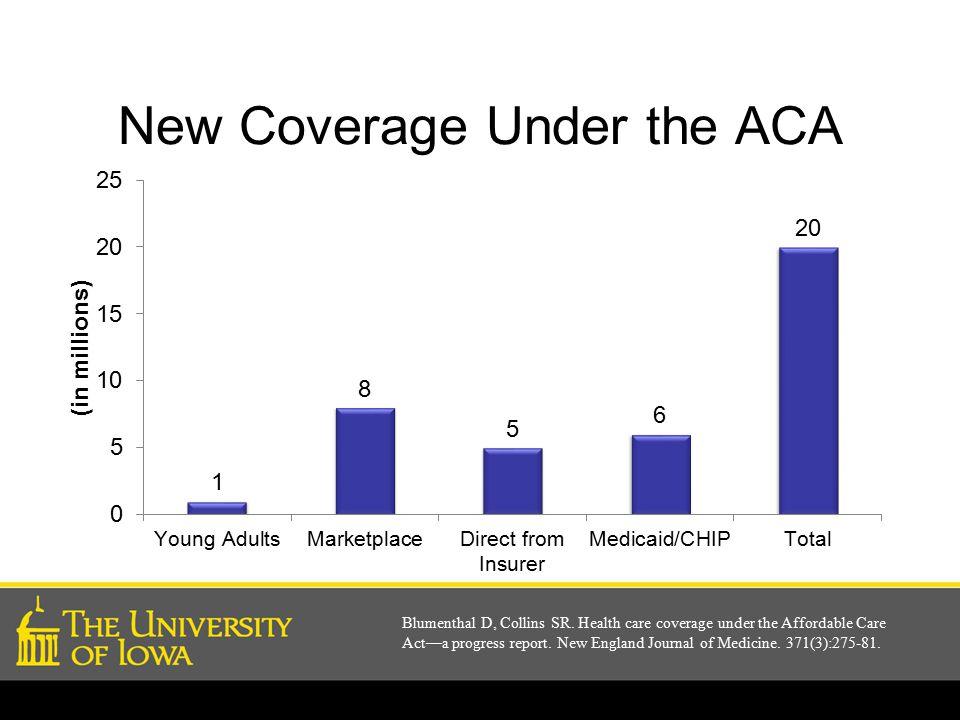 New Coverage Under the ACA Blumenthal D, Collins SR.