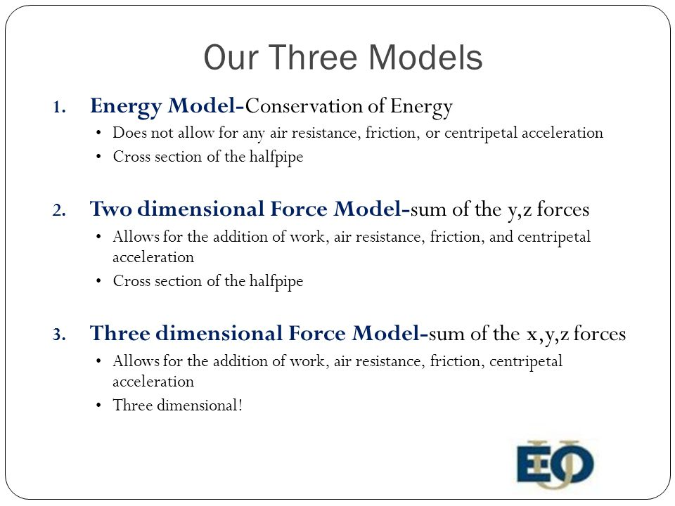 Our Three Models 1.