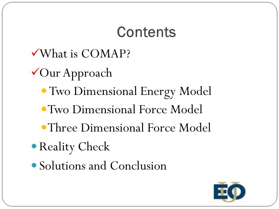 Contents What is COMAP.