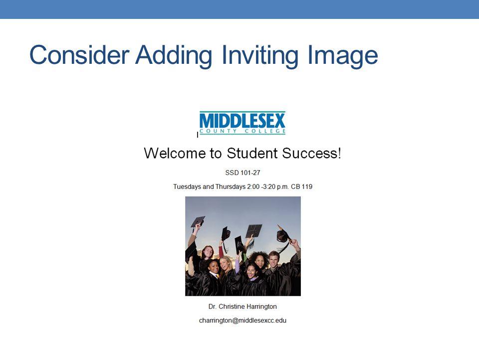 Consider Adding Inviting Image