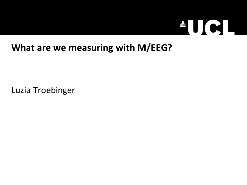 What are we measuring with M/EEG Luzia Troebinger