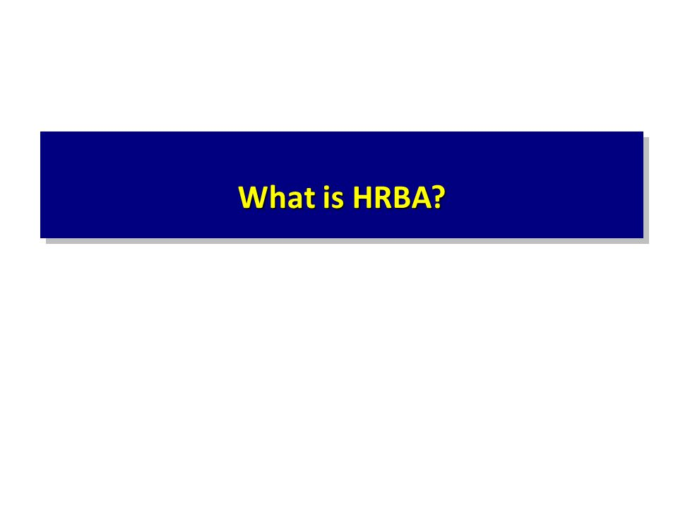 What is HRBA?