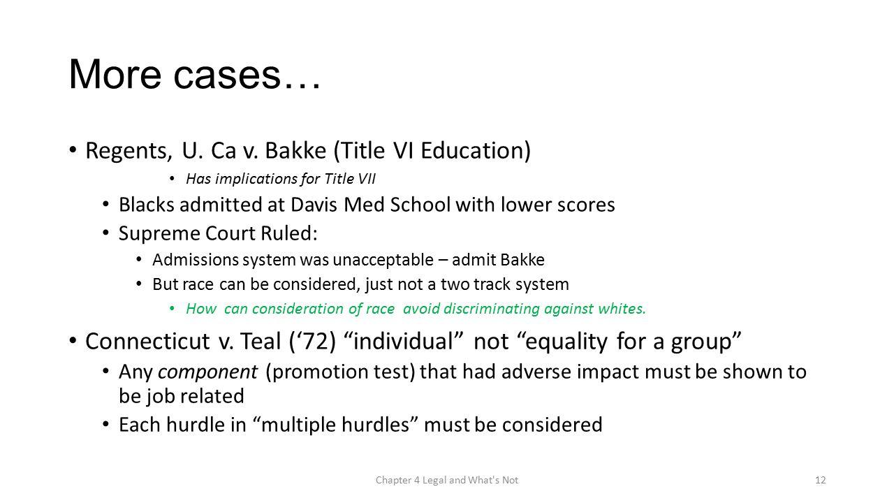 More cases… Regents, U. Ca v.