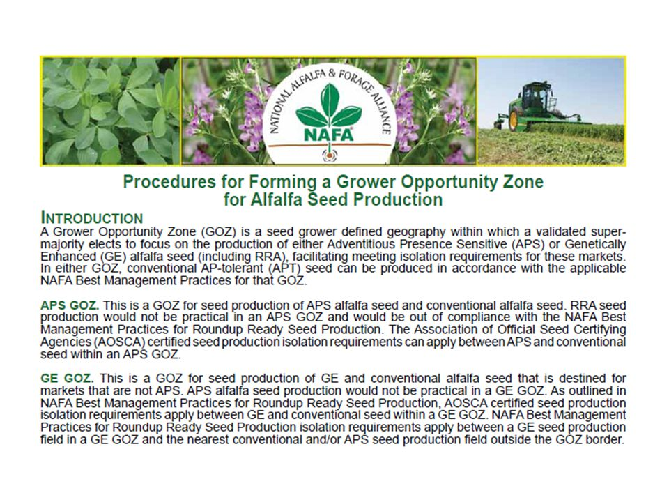 NAFA Grower Opportunity Zones