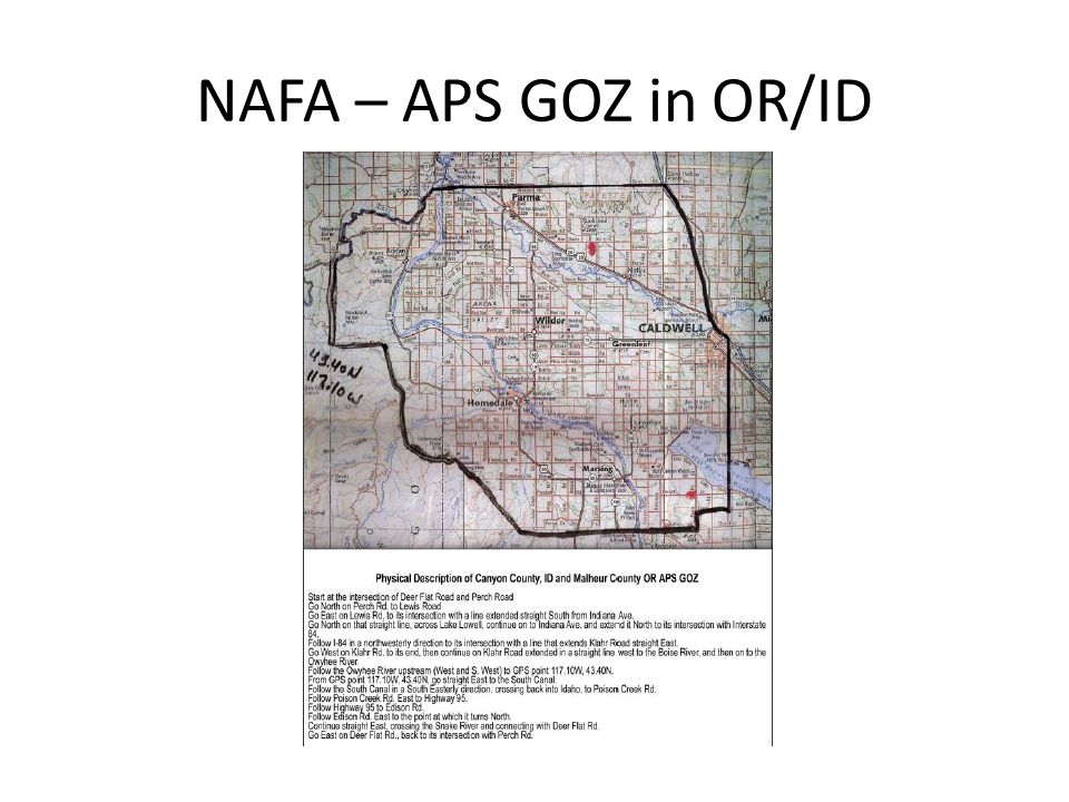 NAFA – APS GOZ in OR/ID