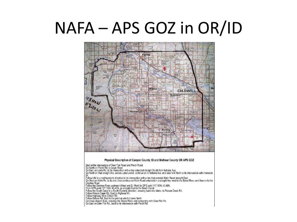 NAFA - APS GOZ in WY