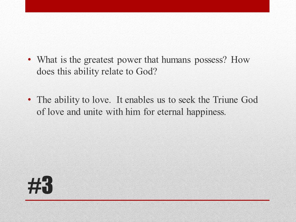 #14 What redeemed humans from the enslavement of sin.