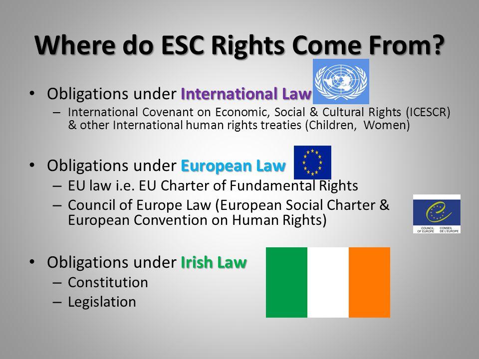 2. ESC Rights & Duties: International Obligations