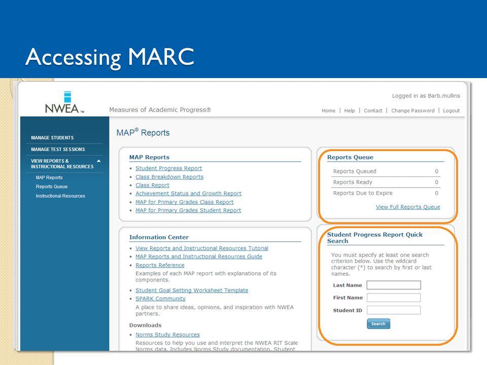 Accessing MARC