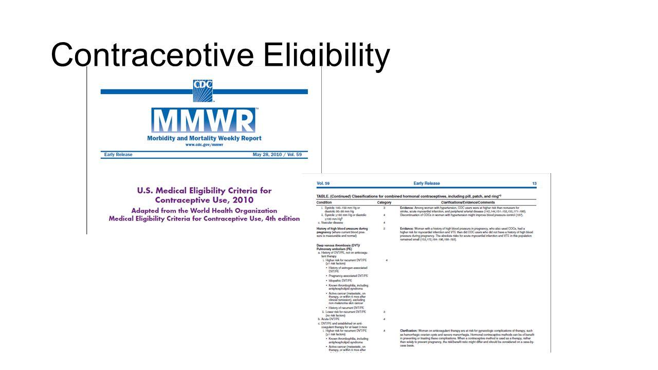 Contraceptive Eligibility