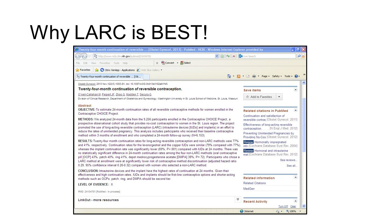 Why LARC is BEST!