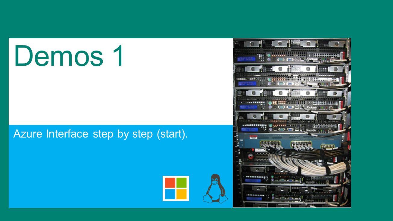 Demos 1 Azure Interface step by step (start).