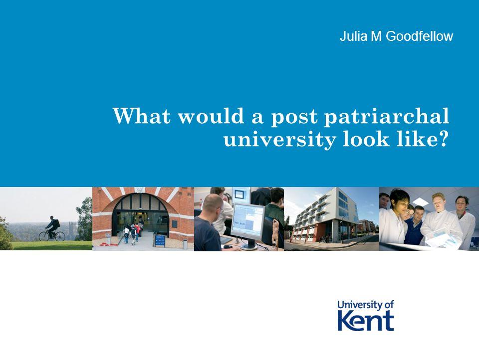 Page 2A Post Patriarchal University