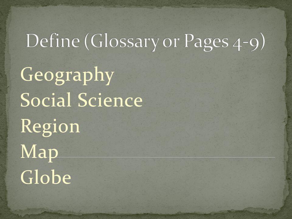Geography Social Science Region Map Globe