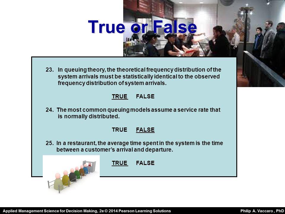 True or False 23.
