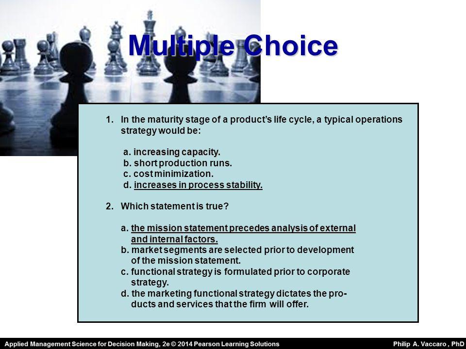 Multiple Choice 1.