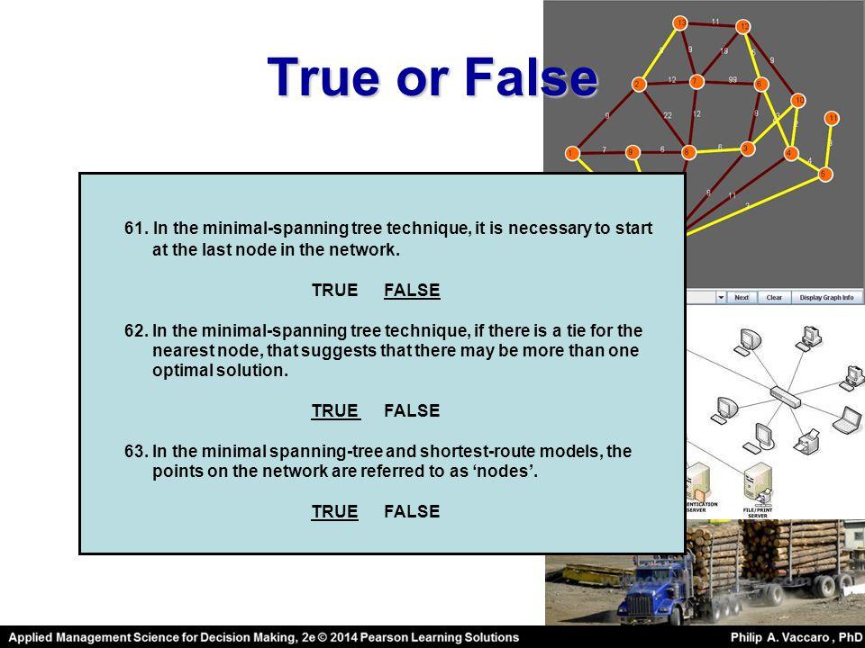 True or False 61.