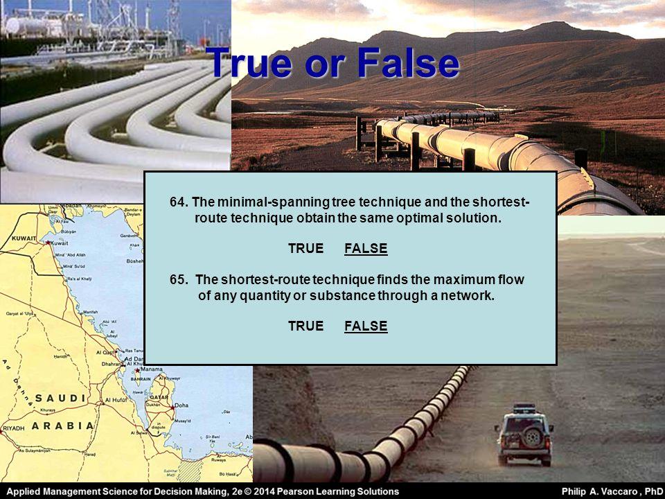 True or False 64.
