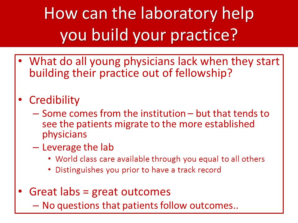 How can the laboratory help you build your practice.