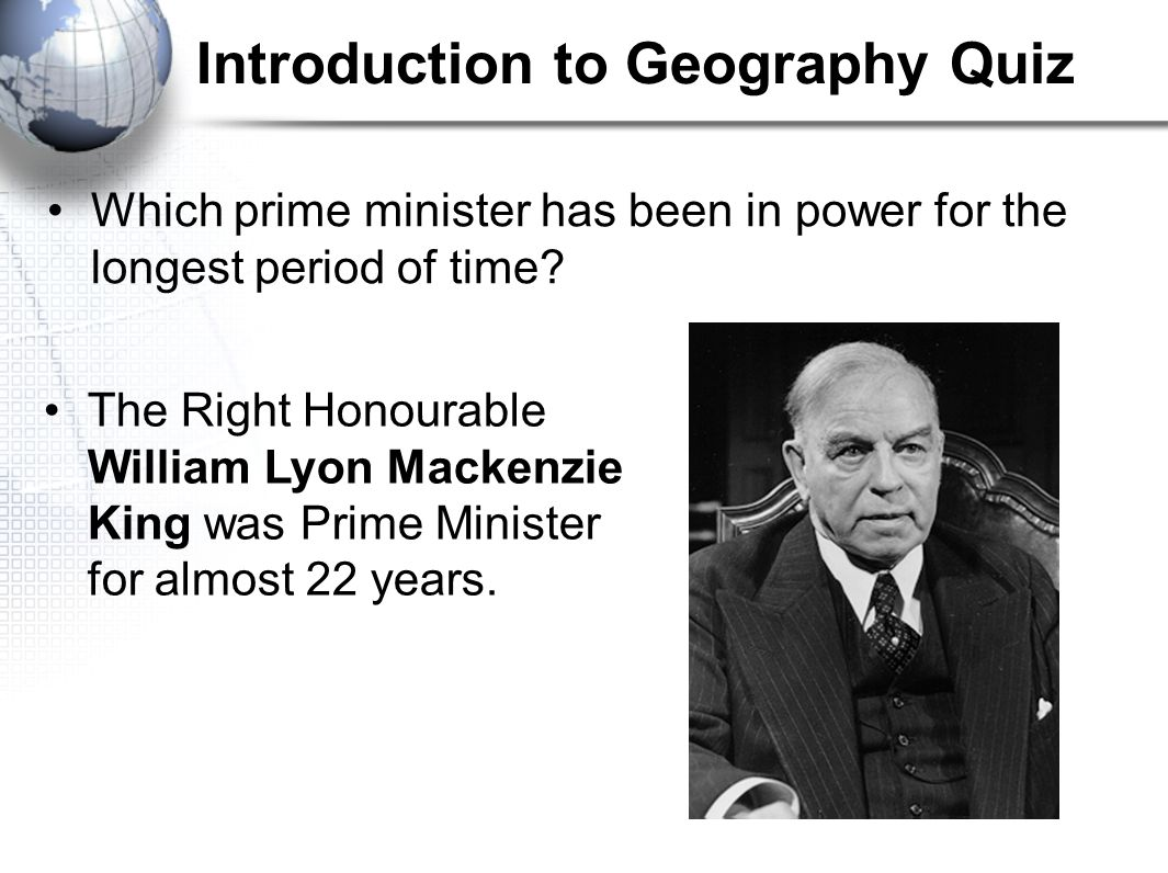 Introduction to Geography Quiz Which of these materials is not mined in Canada.