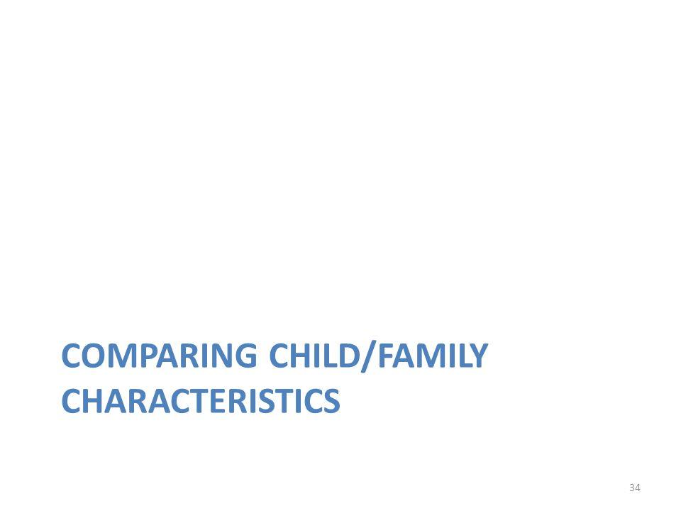34 COMPARING CHILD/FAMILY CHARACTERISTICS