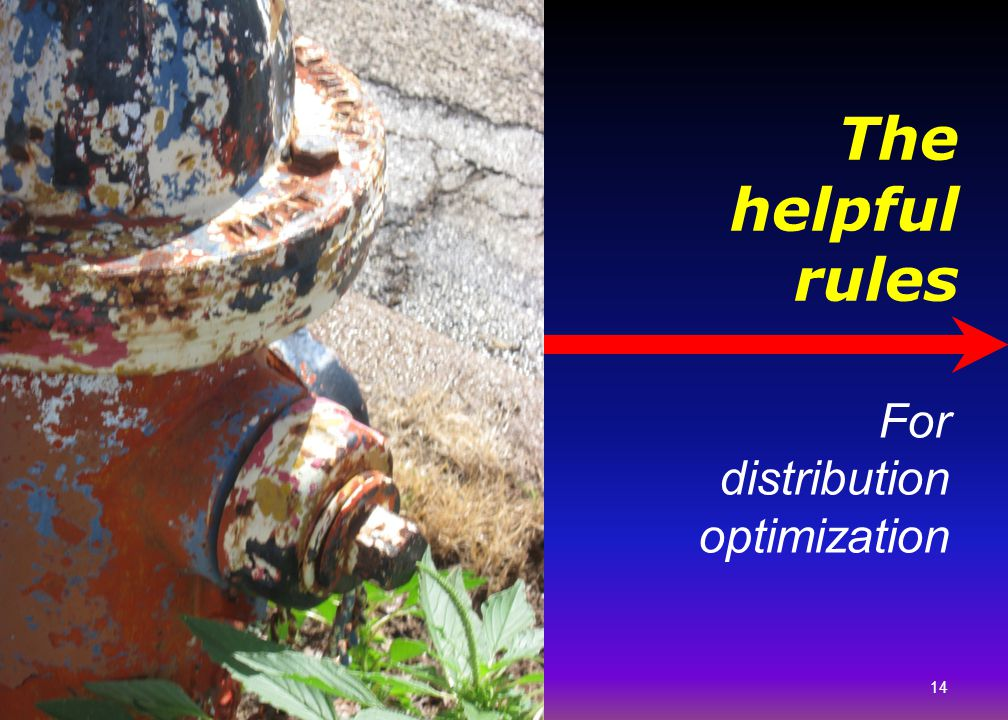 Picture of pipes. The helpful rules For distribution optimization 14