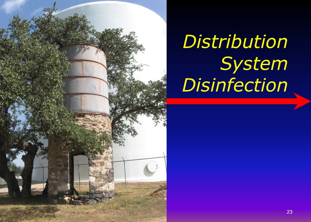 23 Distribution System Disinfection