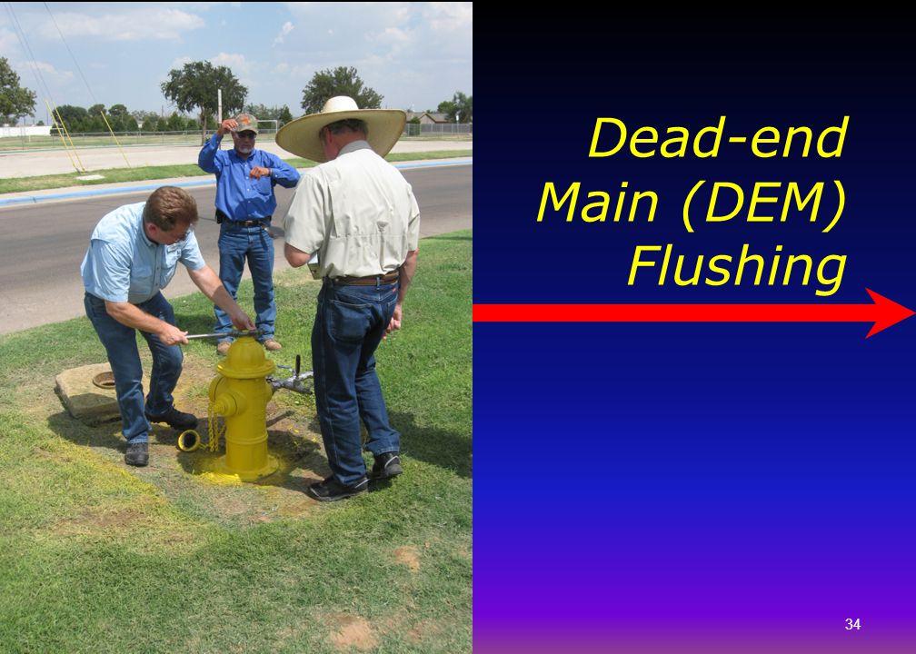 Dead-end Main (DEM) Flushing 34