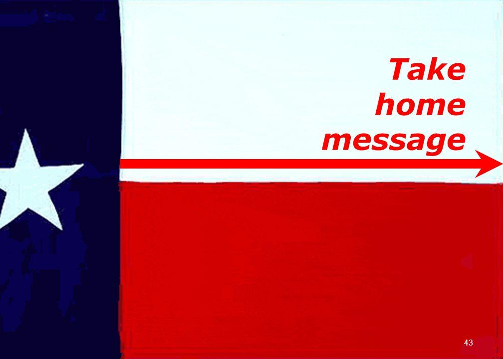 Take home message 43