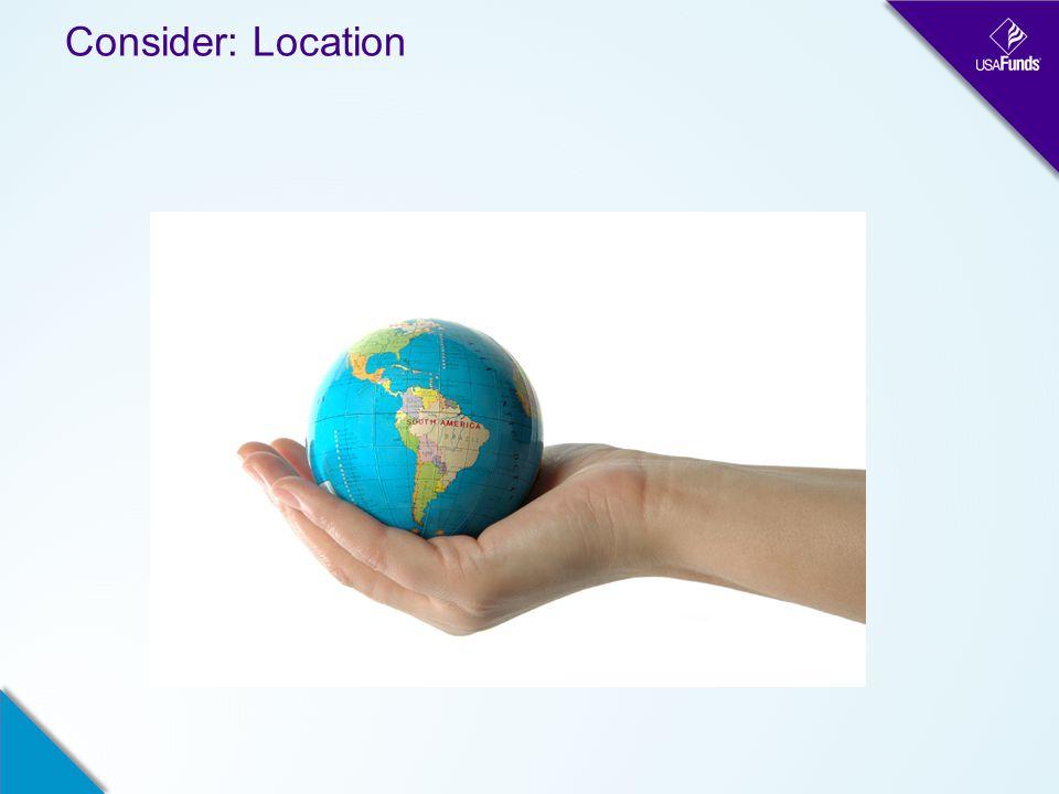 Consider: Location