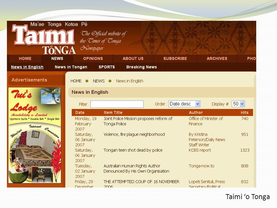 Taimi 'o Tonga