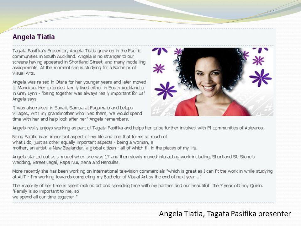 Angela Tiatia, Tagata Pasifika presenter