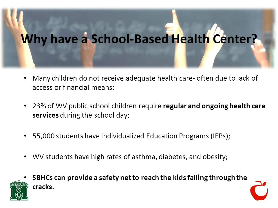 Why have a School-Based Health Center.