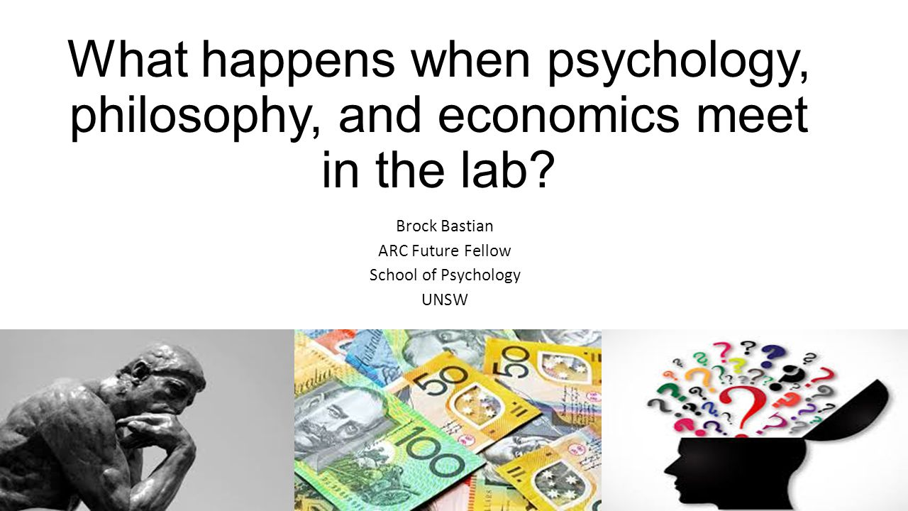 What happens when psychology, philosophy, and economics meet in the lab.