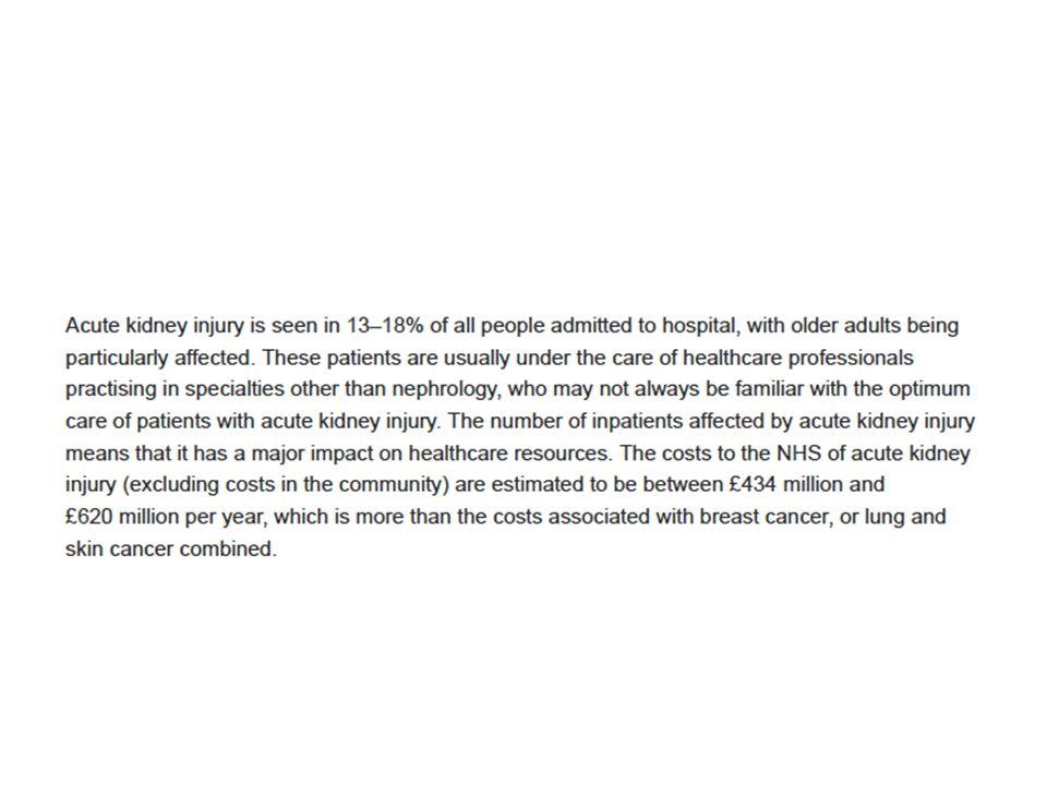 Clin J Am Soc Nephrol.2013 Sep;8(9):1482-93. World incidence of AKI: a meta-analysis.