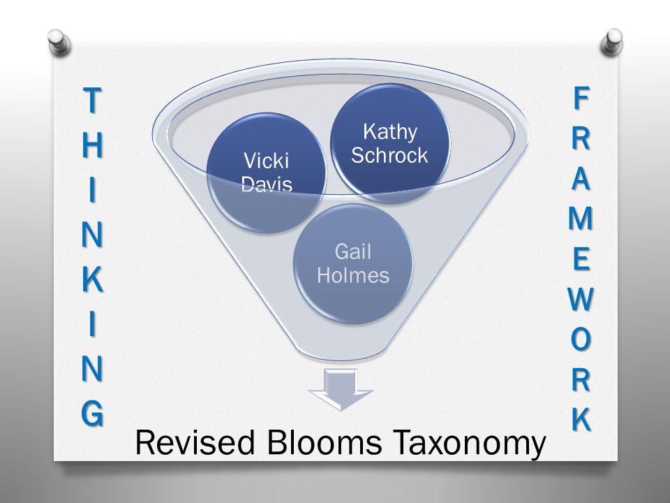 Revised Blooms Taxonomy Gail Holmes Vicki Davis Kathy Schrock THINKINGFRAMEWORK