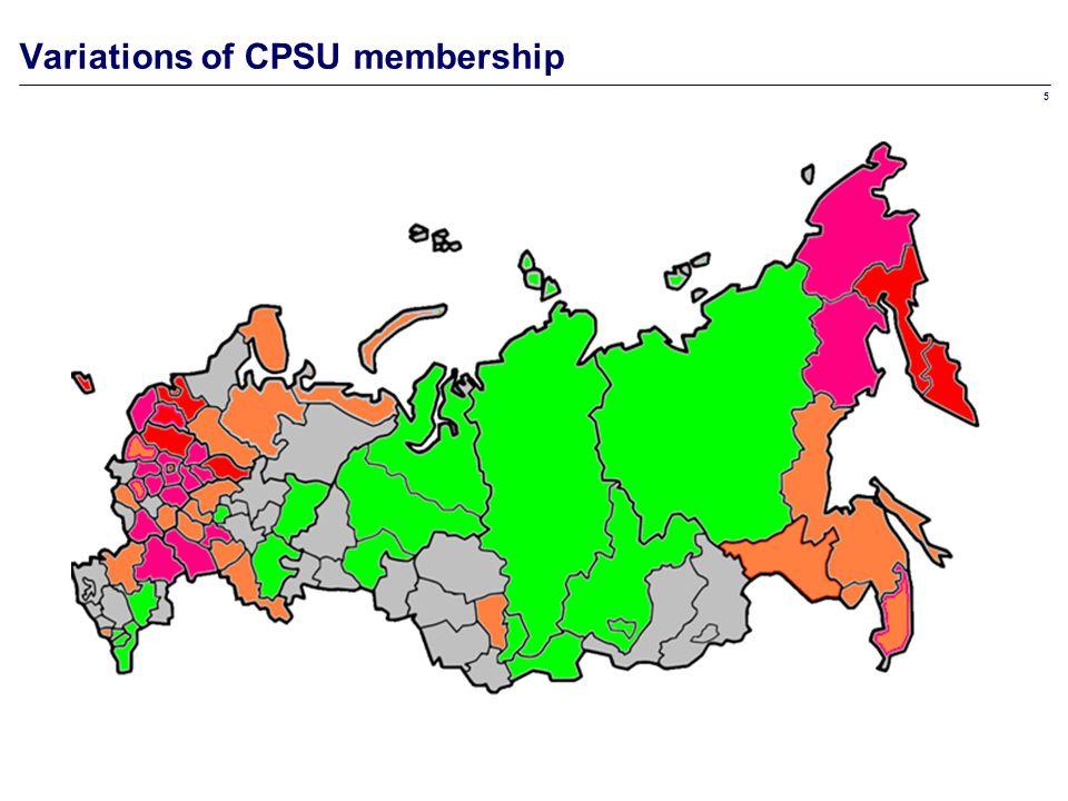 5 Variations of CPSU membership