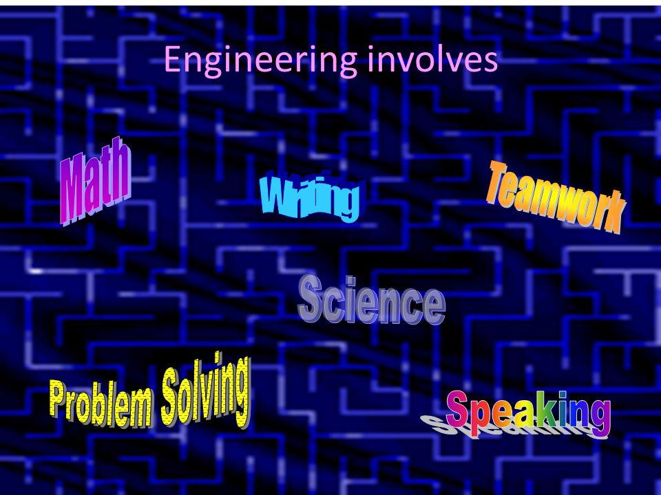 Engineering involves