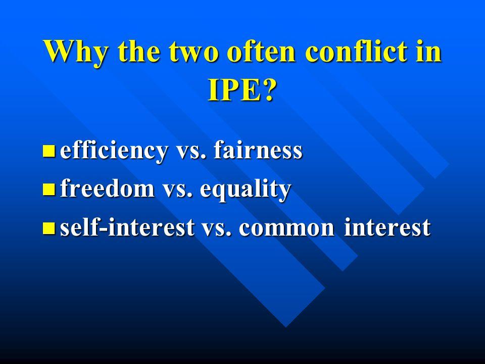 Conflictual or Unconflictual When unconflictual? When unconflictual?  When states and markets have similar goals or driven by similar interests and v