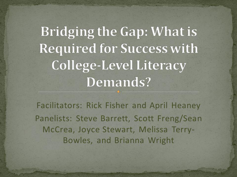 Facilitators: Rick Fisher and April Heaney Panelists: Steve Barrett, Scott Freng/Sean McCrea, Joyce Stewart, Melissa Terry- Bowles, and Brianna Wright