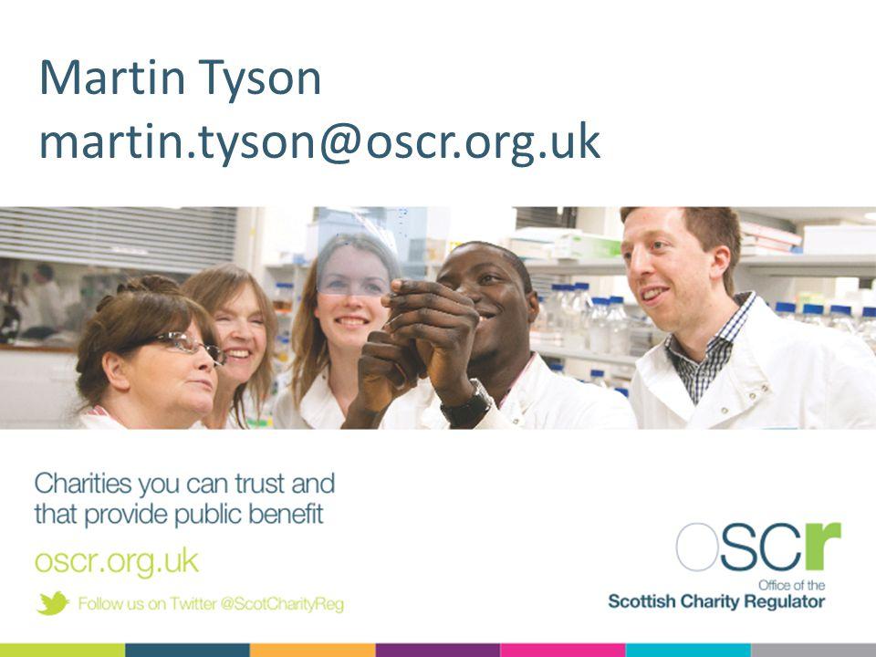 Martin Tyson martin.tyson@oscr.org.uk