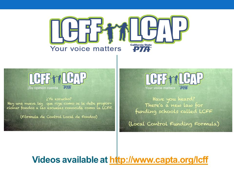 Videos available at http://www.capta.org/lcffhttp://www.capta.org/lcff