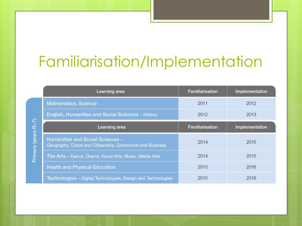 Familiarisation/Implementation