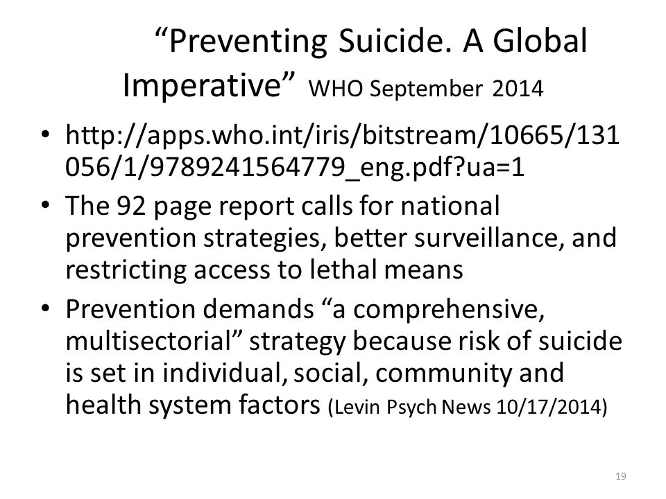 Preventing Suicide.