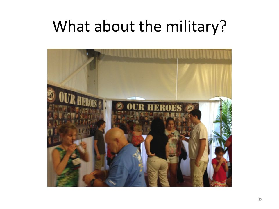 What about the military? 32
