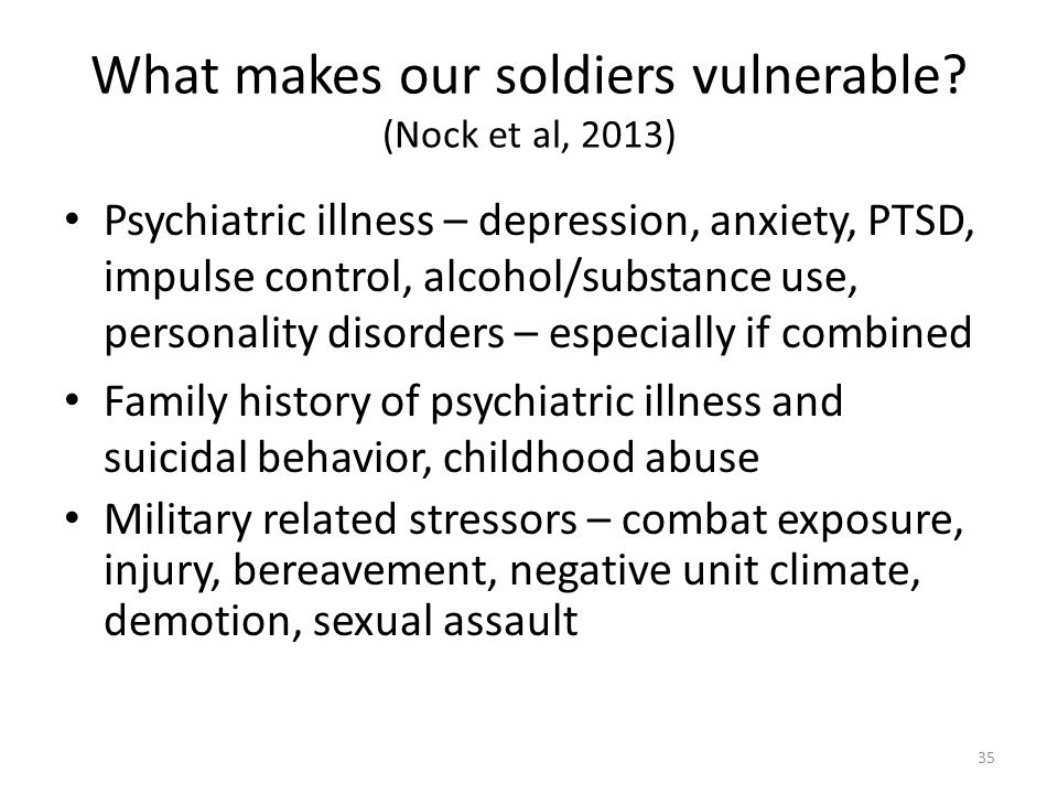 What makes our soldiers vulnerable.